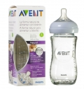 Avent Natural klaasist lutipudel 240ml